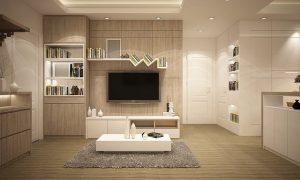 biało-złoty salon